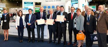 Grupo Mejoras recibe el premio Novedad Técnica otorgado por SMAGUA, a 3 de sus productos